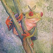 Картины и панно ручной работы. Ярмарка Мастеров - ручная работа Красноглазая квакша. Handmade.