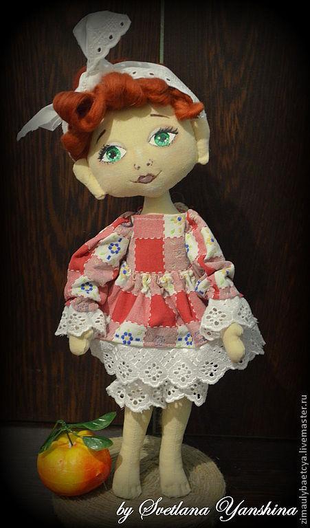Коллекционные куклы ручной работы. Ярмарка Мастеров - ручная работа. Купить Садовница Софи. Handmade. Рыжий, кукла в подарок