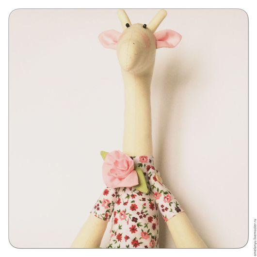 Куклы Тильды ручной работы. Ярмарка Мастеров - ручная работа. Купить Жирафик Тильда. Handmade. Бежевый, жирафик тильда, жирафа