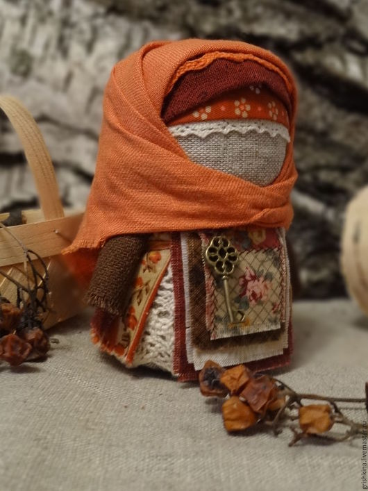 Народные куклы ручной работы. Ярмарка Мастеров - ручная работа. Купить Крупеничка. Handmade. Рыжий, обережные куклы, ключи от счастья