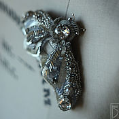 Украшения handmade. Livemaster - original item brooch silver moth. Handmade.
