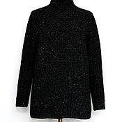 Sweaters handmade. Livemaster - original item Tweed black sweater with white Starry night. Handmade.