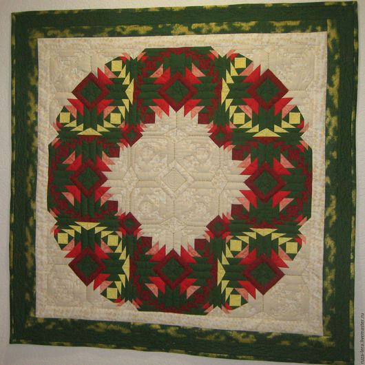 """Текстиль, ковры ручной работы. Ярмарка Мастеров - ручная работа. Купить Панно """"Венок"""". Handmade. Комбинированный, панно, текстильное панно"""