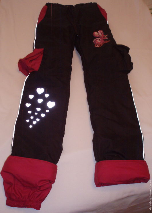 Одежда для девочек, ручной работы. Ярмарка Мастеров - ручная работа. Купить брюки демисезонные. Handmade. Черный, однотонный, трансфер