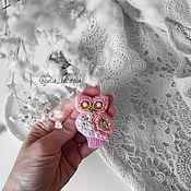 """Украшения ручной работы. Ярмарка Мастеров - ручная работа Брошь из бисера """"Сова"""". Handmade."""