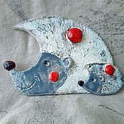 """Магниты ручной работы. Ярмарка Мастеров - ручная работа Магниты: """"Ёжики"""". Handmade."""