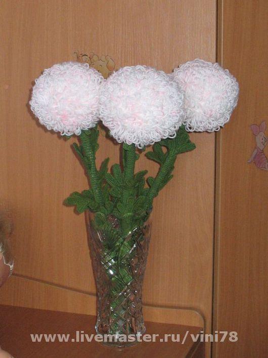Букеты ручной работы. Ярмарка Мастеров - ручная работа. Купить Вязанные хризантемы. Handmade. Подарок на любой праздник, прото приятно