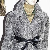 Одежда ручной работы. Ярмарка Мастеров - ручная работа Полушубок Автоледи Свакара серебристая автоледи, длинный рукав. Handmade.