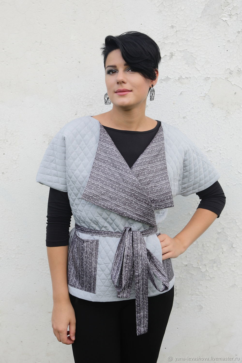 Vest grey double sided quilted spring, Outerwear Jackets, Moscow,  Фото №1