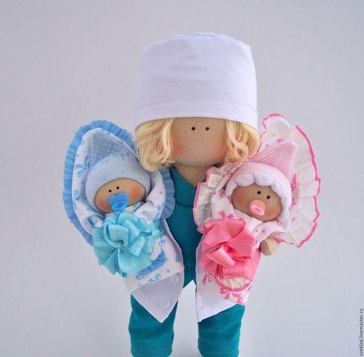 Коллекционные куклы ручной работы. Ярмарка Мастеров - ручная работа. Купить Интерьерная кукла врач. Handmade. Комбинированный, кукла врач