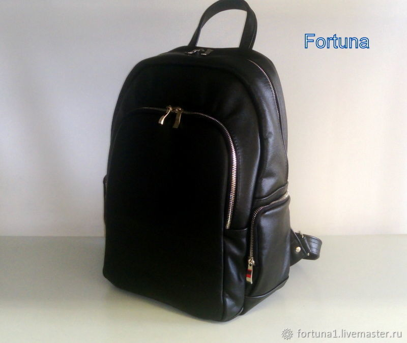 Leather backpack ' Black', Backpacks, St. Petersburg,  Фото №1