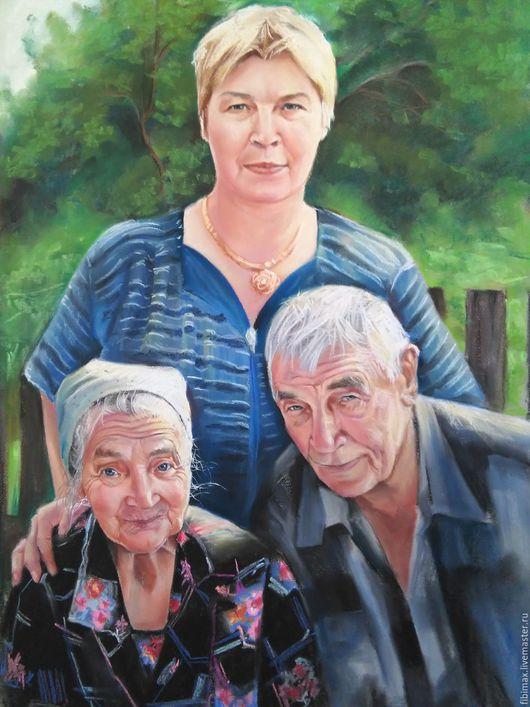 Люди, ручной работы. Ярмарка Мастеров - ручная работа. Купить портрет по фото. Handmade. Комбинированный, художник, искусство