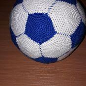 Мягкие игрушки ручной работы. Ярмарка Мастеров - ручная работа Мяч футбольный. Handmade.