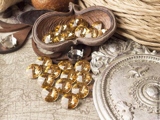 Для украшений ручной работы. Ярмарка Мастеров - ручная работа. Купить Риволи 16мм Золото. Handmade. Rivoli, камни