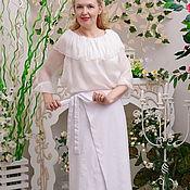 Одежда ручной работы. Ярмарка Мастеров - ручная работа Юбка белая,летняя из вискозы, юбка Бэлла. Handmade.