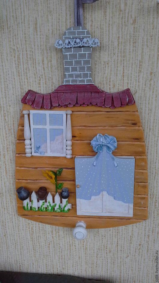 """Фантазийные сюжеты ручной работы. Ярмарка Мастеров - ручная работа. Купить """"Дверь к счастью! Маришкина избушка.""""  - панно миниатюра. Handmade."""