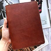 Канцелярские товары handmade. Livemaster - original item Notebook on the rings of genuine leather. Handmade.