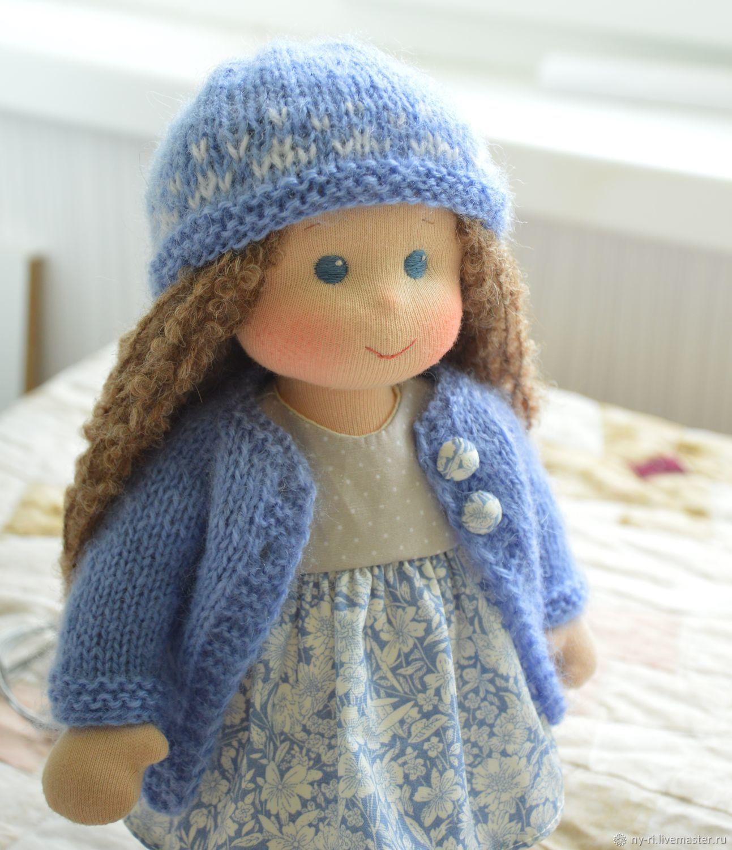 Вальдорфская кукла Голубика, Вальдорфская игрушка, Таруса, Фото №1