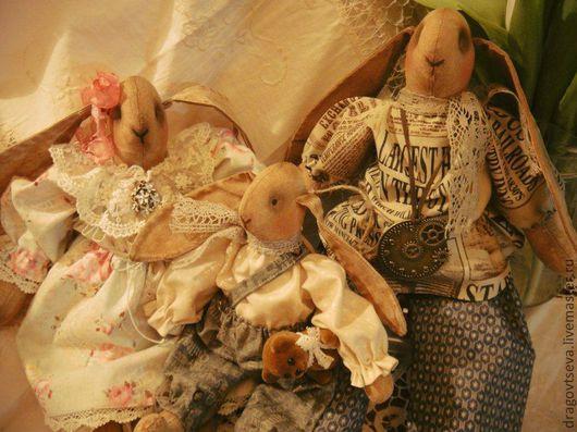 Ароматизированные куклы ручной работы. Ярмарка Мастеров - ручная работа. Купить Счастливое семейство. Handmade. Заяц, подарок, металлическая фурнитура