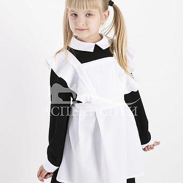 Товары для малышей ручной работы. Ярмарка Мастеров - ручная работа Комплект платье с фартуком, 15-079ч (черное платье и белый фартук). Handmade.