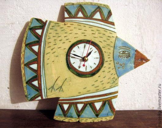 """Часы для дома ручной работы. Ярмарка Мастеров - ручная работа. Купить Часы керамические настенные """"Птицы"""". Handmade. Часы, птицы"""