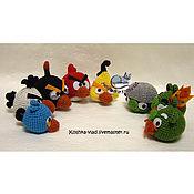 """Куклы и игрушки ручной работы. Ярмарка Мастеров - ручная работа Mini Офисный боекомплект """"Злые птички"""". Handmade."""