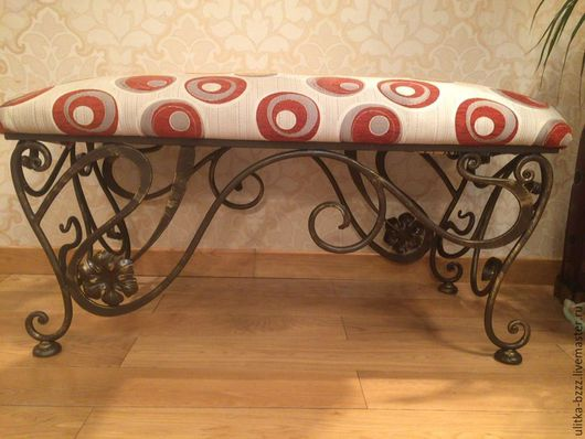 Мебель ручной работы. Ярмарка Мастеров - ручная работа. Купить Домашняя скамейка. Handmade. Комбинированный, банкетка, ручная ковка, металл