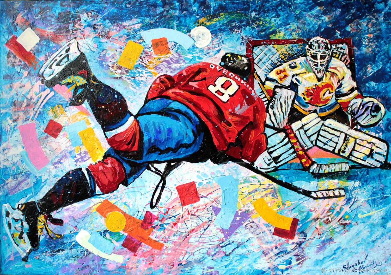 Хоккей в картинах художников