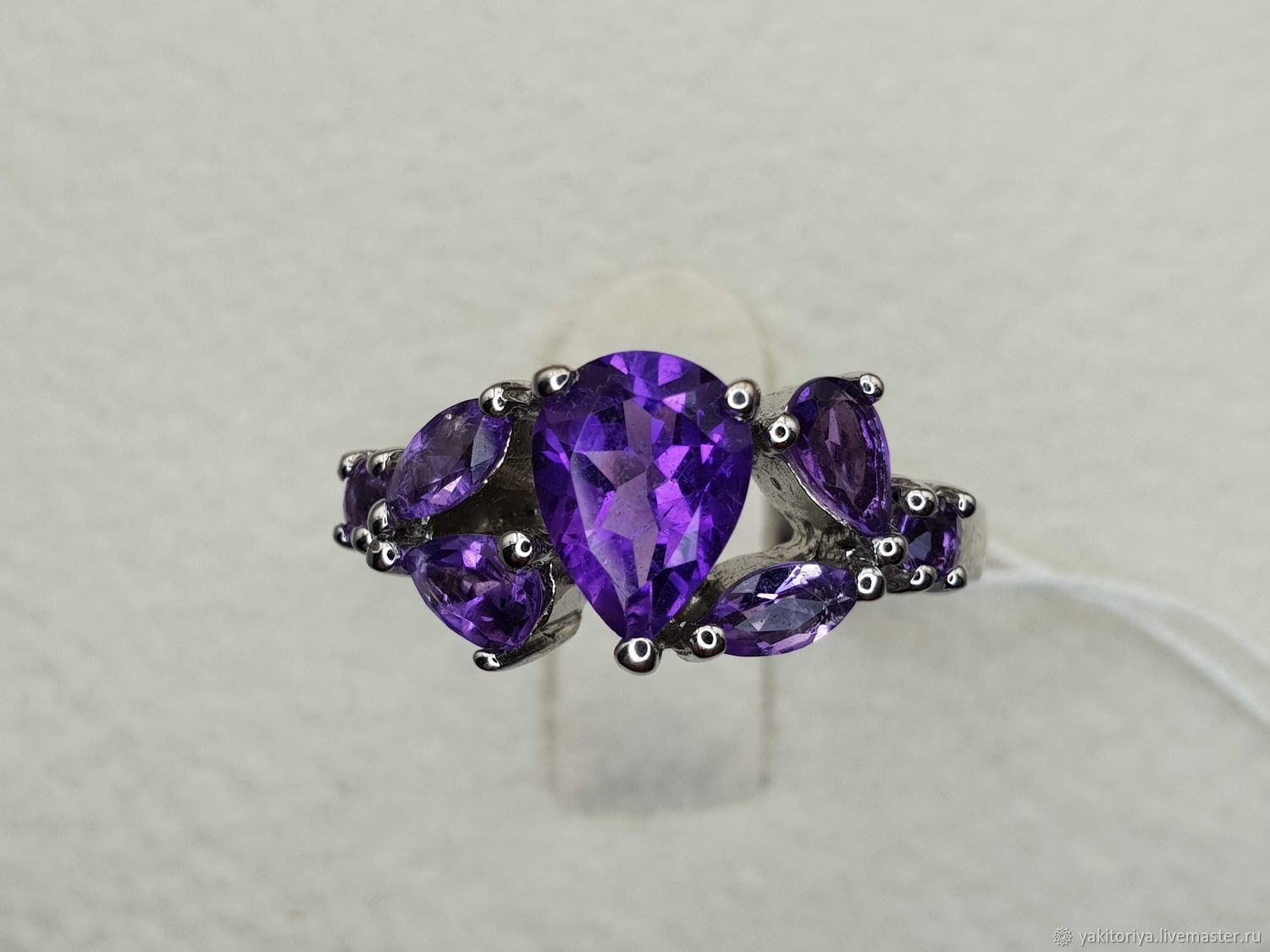 Silver ring with amethysts, Rings, Moscow,  Фото №1