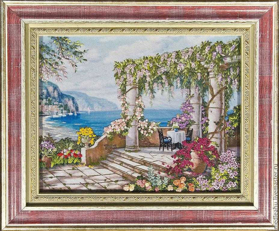 Вышивка лентами картины пейзажи 40