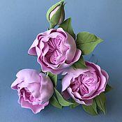 Свадебный салон handmade. Livemaster - original item Hairpins in hairstyle with English roses. polymer clay.. Handmade.