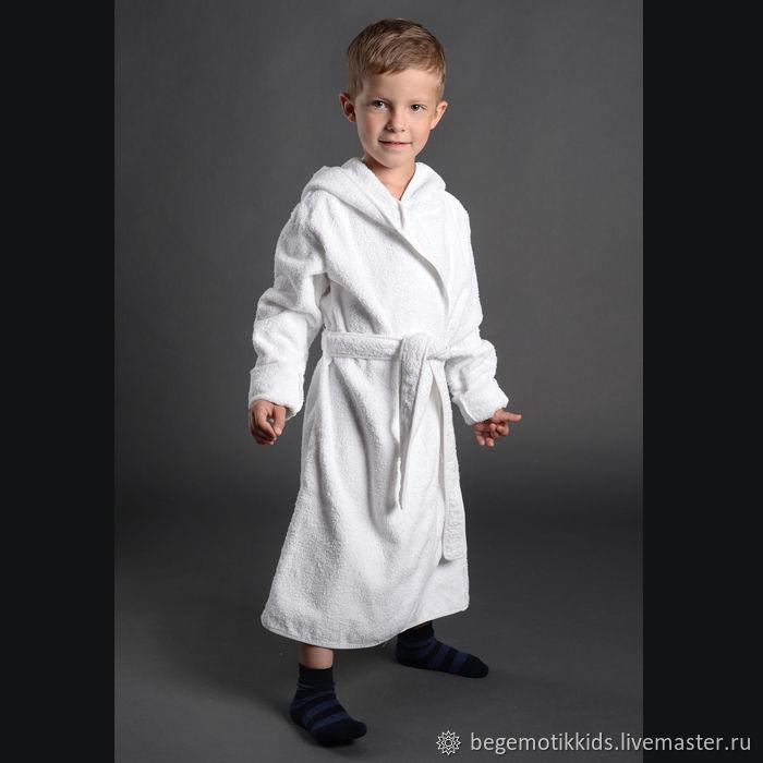 Махровый халат детский