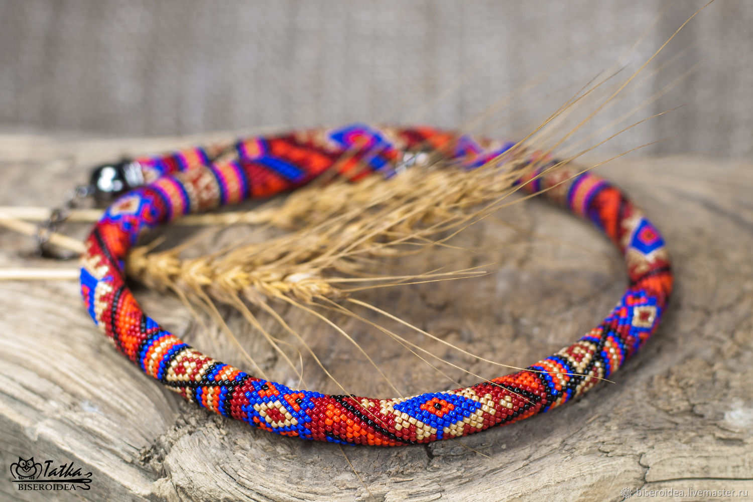 Copy of Bead crochet rope with ethnic pattern – shop online on ...