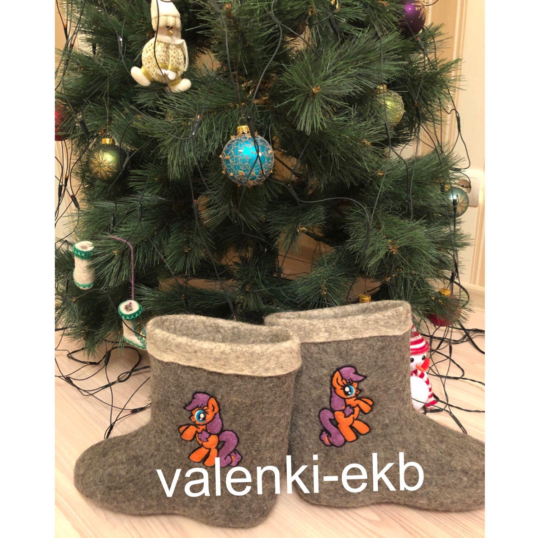 Обувь ручной работы. Ярмарка Мастеров - ручная работа. Купить Валенки укороченные (полуваленки) с вышивкой/рисунком/декором/узором. Handmade. Хохлома, валенки женские