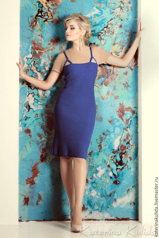 Платья ручной работы. Ярмарка Мастеров - ручная работа. Купить Фиолетовое платье. Handmade. Фиолетовый, сиреневое платье, вязаное платье