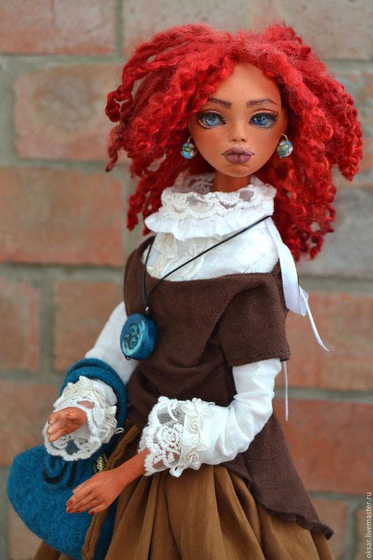 Коллекционные куклы ручной работы. Ярмарка Мастеров - ручная работа. Купить Белла, коллекционная кукла. Бохо стиль. Смешанная техника. Handmade.