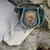 handmade. Livemaster - original item Bag-pocket made of leather