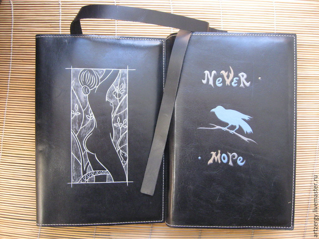 EVE, the RAVEN book cover, leather, Organizer, Moscow,  Фото №1