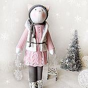 """Куклы и игрушки ручной работы. Ярмарка Мастеров - ручная работа Кошка """"Снежинку хрупкую спрячь в ладонь"""". Handmade."""