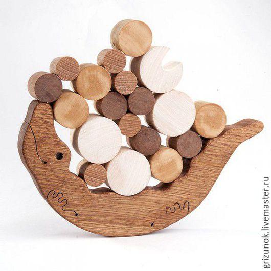 Развивающие игрушки ручной работы. Ярмарка Мастеров - ручная работа. Купить Крокодил Деревянная игрушка Балансир Крокодил. Handmade.
