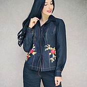 Одежда handmade. Livemaster - original item Elegant Trouser suit with embroidery