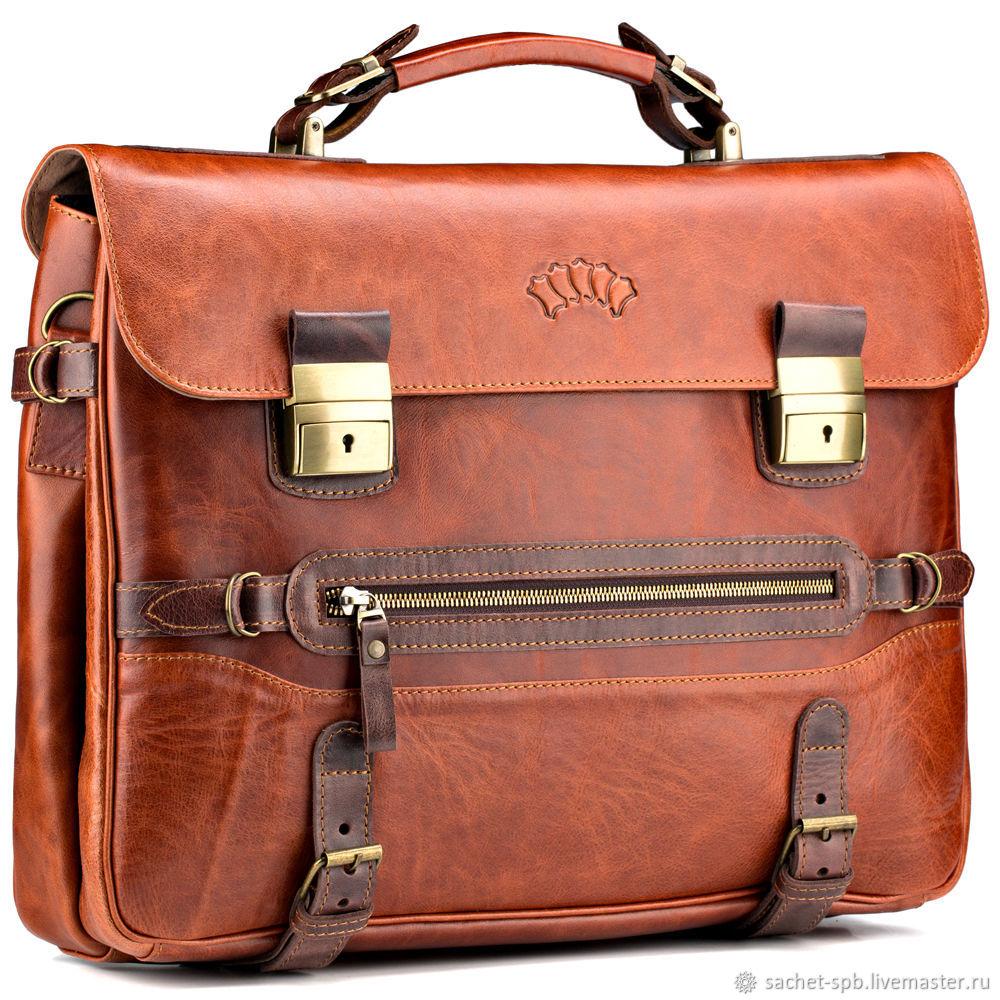db7a8193ffed Мужские сумки ручной работы. Ярмарка Мастеров - ручная работа. Купить  Кожаный портфель
