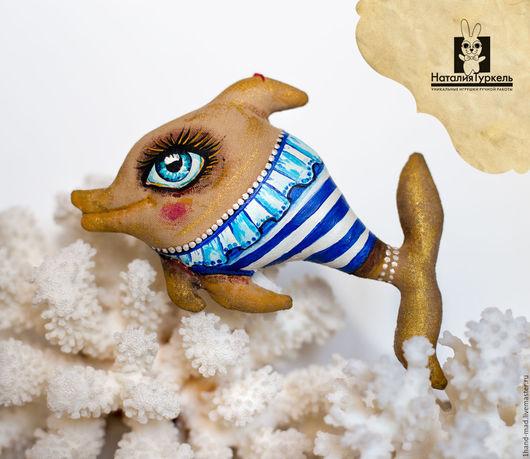 Ароматизированные куклы ручной работы. Ярмарка Мастеров - ручная работа. Купить Весёлые дельфины в тельняшках. Handmade. Коричневый, морской стиль