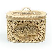Для дома и интерьера handmade. Livemaster - original item Bread box made of birch bark carved
