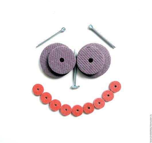 Куклы и игрушки ручной работы. Ярмарка Мастеров - ручная работа. Купить Крепления для мишек Тедди Диски Шплинты разный размер. Handmade.