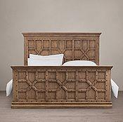 Для дома и интерьера ручной работы. Ярмарка Мастеров - ручная работа Дизайнерская двуспальная кровать из массива с высоким изголовьем №1. Handmade.
