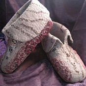 Обувь ручной работы. Ярмарка Мастеров - ручная работа Валяные тапочки ручной работы. Handmade.