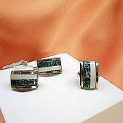 Украшения handmade. Livemaster - original item Silver set of earrings and ring with moss agate. Handmade.