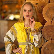 """Одежда handmade. Livemaster - original item Платье из натурального льна """"Осень"""". Handmade."""
