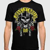 "Одежда handmade. Livemaster - original item Футболка с принтом ""Guns` N` Roses"". Handmade."
